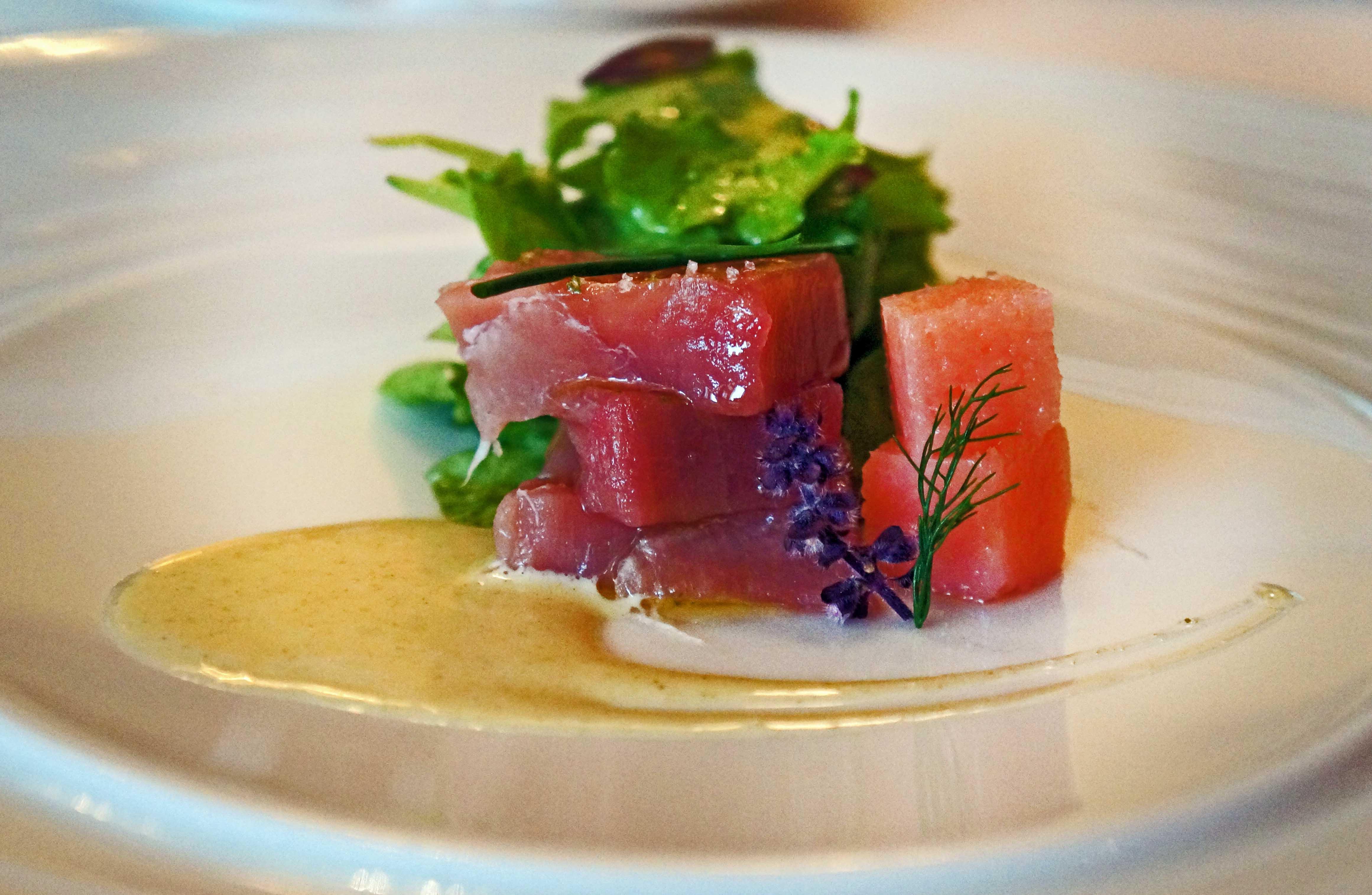 jadranska tuna, vasabi sos, đumbir